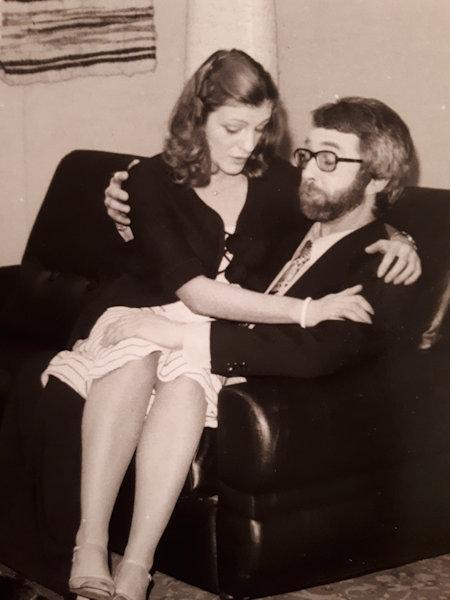 Zone de Texte:  Avec Bernard Kolb, dans «Sylvie», en 1977